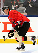 Kyle Turris of the Ottawa Senators attends practice for the 2014 Tim Hortons NHL Heritage Classic game against the Vancouver Canucks at BC Place on...