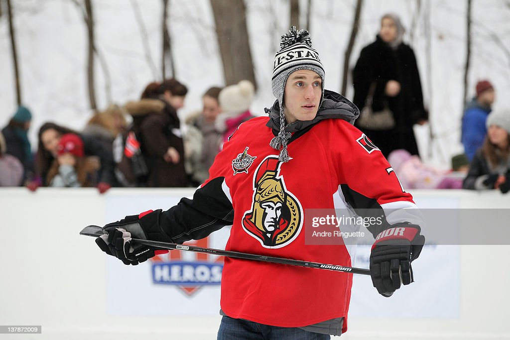 <a gi-track='captionPersonalityLinkClicked' href=/galleries/search?phrase=Kyle+Turris&family=editorial&specificpeople=4251834 ng-click='$event.stopPropagation()'>Kyle Turris</a> of the Ottawa Senators attends the 2012 NHL All-Star Game - H.E.R.O.S. Community Program Launch at Rideau Hall on January 28, 2012 in Ottawa, Ontario, Canada.