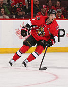 Kyle Turris of the Ottawa Senators skates against the Calgary Flames at Canadian Tire Centre on March 8 2015 in Ottawa Ontario Canada