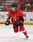 Kyle Turris of the Ottawa Senators skates against the Carolina Hurricanes at Canadian Tire Centre on February 16 2015 in Ottawa Ontario Canada