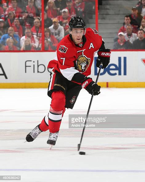 Kyle Turris of the Ottawa Senators skates against the Montreal Canadiens at Canadian Tire Centre on October 11 2015 in Ottawa Ontario Canada