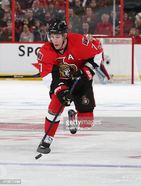 Kyle Turris of the Ottawa Senators skates against the Montreal Canadiens in Game Three of the Eastern Conference Quarterfinals during the 2015 NHL...