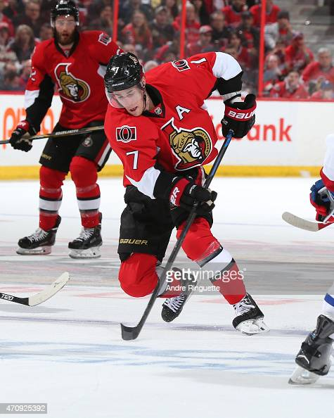 Kyle Turris of the Ottawa Senators skates against the Montreal Canadiens in Game Four of the Eastern Conference Quarterfinals during the 2015 NHL...
