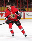 Kyle Turris of the Ottawa Senators skates against the New Jersey Devils at Canadian Tire Centre on April 10 2014 in Ottawa Ontario Canada