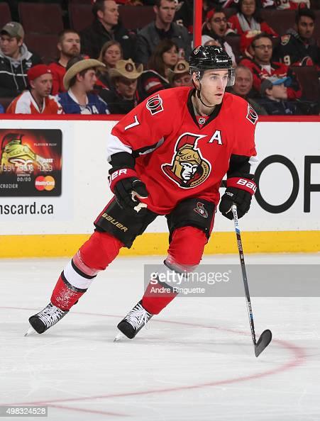 Kyle Turris of the Ottawa Senators skates against the Philadelphia Flyers at Canadian Tire Centre on November 21 2015 in Ottawa Ontario Canada