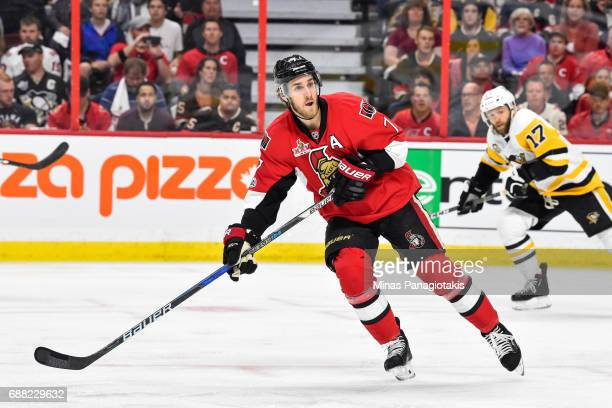 Kyle Turris of the Ottawa Senators skates against the Pittsburgh Penguins in Game Six of the Eastern Conference Final during the 2017 NHL Stanley Cup...