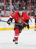 Kyle Turris of the Ottawa Senators skates against the Toronto Maple Leafs at Canadian Tire Centre on February 6 2016 in Ottawa Ontario Canada