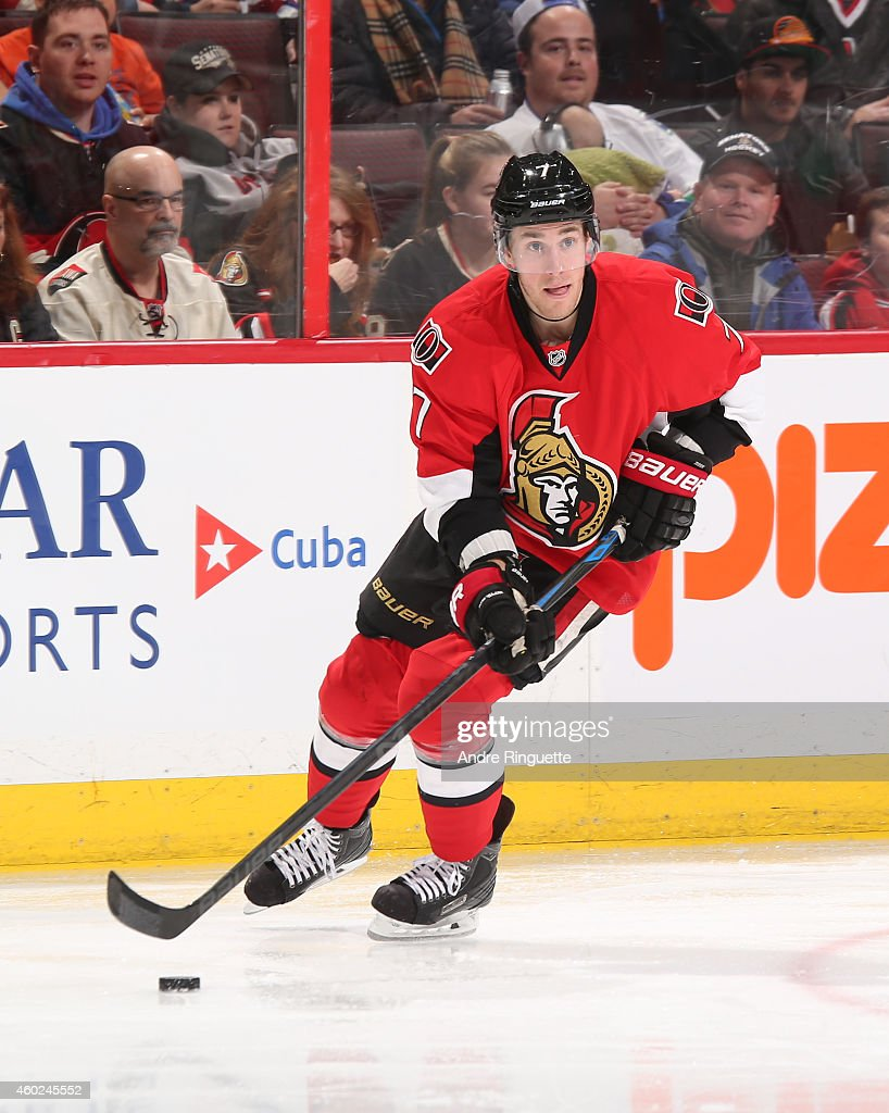 Kyle Turris of the Ottawa Senators skates against the Vancouver Canucks at Canadian Tire Centre on December 7 2014 in Ottawa Ontario Canada