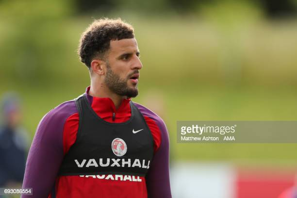 Kyle Walker of England during an England Training Session at St Georges Park on June 6 2017 in BurtonuponTrent England