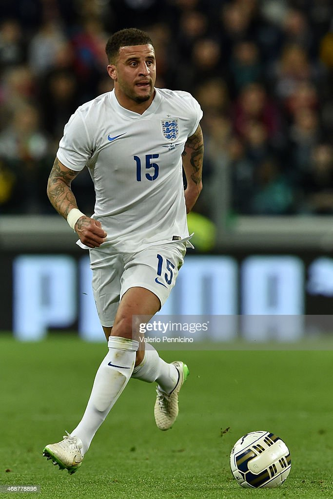 Kyle Walker of England in action during the international friendly match between Italy and England on March 31 2015 in Turin Italy