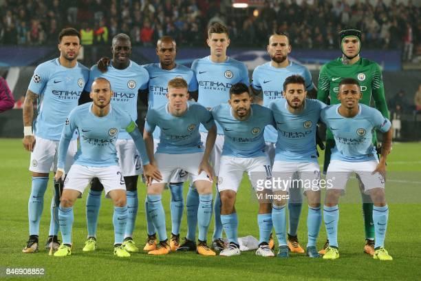 Kyle Walker of Manchester City Benjamin Mendy of Manchester City Fernandinho Luiz Roza of Manchester City John Stones of Manchester City Nicolas...