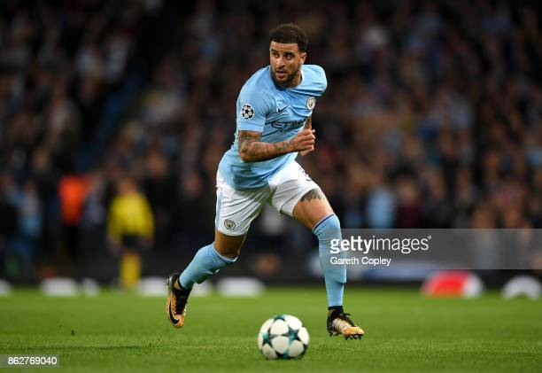 Kyle Walker of Manchester City during the UEFA Champions League group F match between Manchester City and SSC Napoli at Etihad Stadium on October 17...