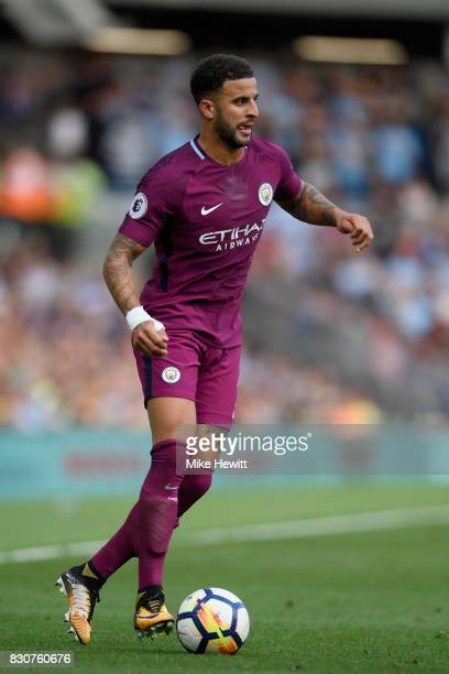 Kyle Walker of Manchester City in action during the Premier League match between Brighton and Hove Albion and Manchester City at the Amex Stadium on...