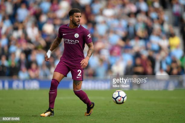 Kyle Walker of Manchester City in action during the Premier League match between Brighton and Hove Albion and Manchester City at Amex Stadium on...