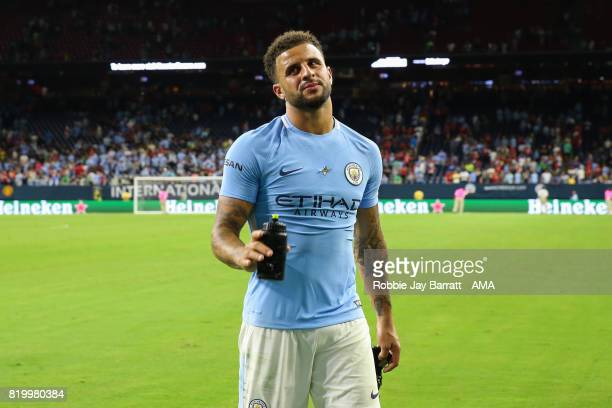 Kyle Walker of Manchester City walks off dejected at full time during the International Champions Cup 2017 match between Manchester United and...