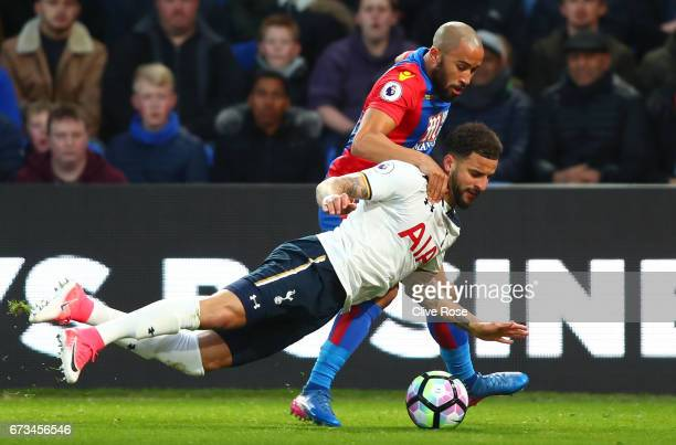 Kyle Walker of Tottenham Hotspur and Andros Townsend of Crystal Palace in action during the Premier League match between Crystal Palace and Tottenham...