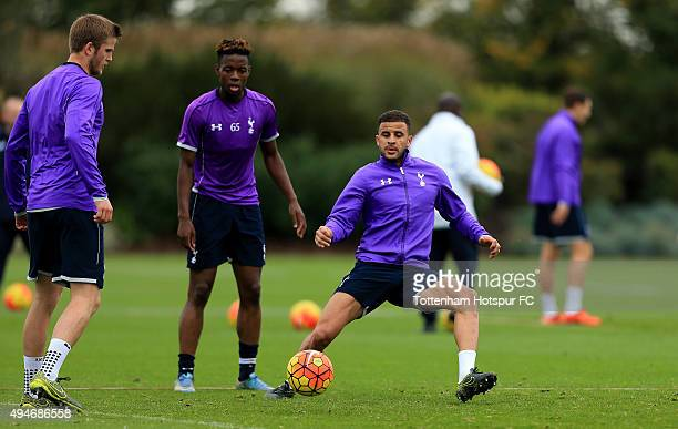 Kyle Walker of Tottenham Hotspur during a training session at the club's training ground on October 28 2015 in Enfield England