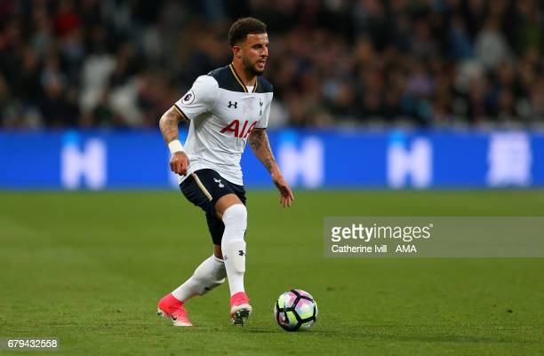 Kyle Walker of Tottenham Hotspur during the Premier League match between West Ham United and Tottenham Hotspur at London Stadium on May 5 2017 in...
