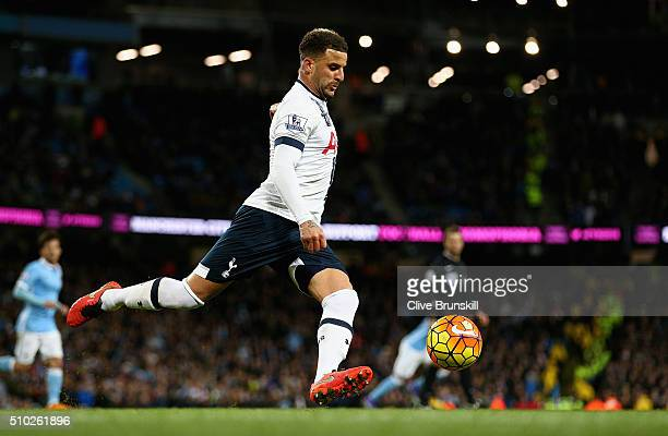 Kyle Walker of Tottenham Hotspur in action during the Barclays Premier League match between Manchester City and Tottenham Hotspur at Etihad Stadium...