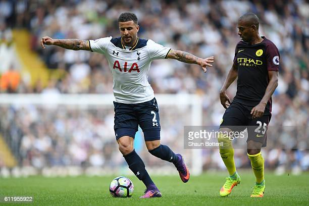 Kyle Walker of Tottenham Hotspur in action during the Premier League match between Tottenham Hotspur and Manchester City at White Hart Lane on...