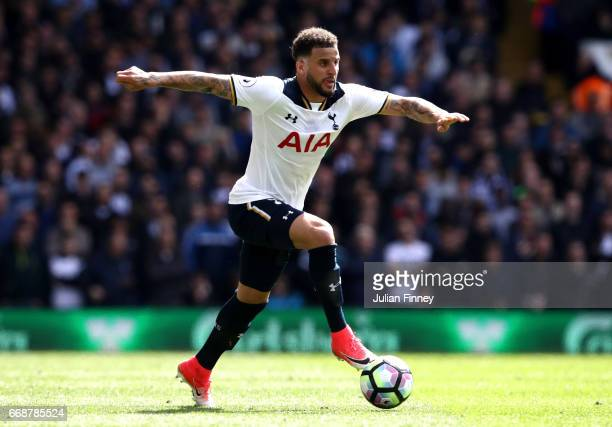 Kyle Walker of Tottenham Hotspur in action during the Premier League match between Tottenham Hotspur and AFC Bournemouth at White Hart Lane on April...