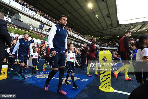 Kyle Walker of Tottenham Hotspur walks out of the tunnel during the Premier League match between Tottenham Hotspur and Manchester City at White Hart...