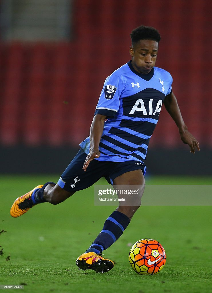 Kyle Walker-Peters of Tottenham Hotspur U21 during the Barclays U21 Premier League match between Southampton and Tottenham Hotspur at St Mary's Stadium on February 9, 2016 in Southampton, England.