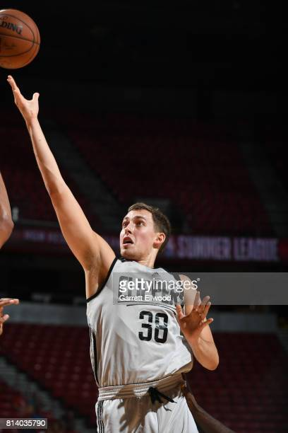 Kyle Wiltjer of the LA Clippers shoots the ball against the Miami Heat on July 13 2017 at the Thomas Mack Center in Las Vegas Nevada NOTE TO USER...
