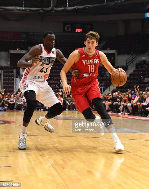 Kyle Wiltjer of the Rio Grande Valley Vipers handles the ball against Pascal Siakam of the Raptors 905 during Game Two of the D League Finals at the...