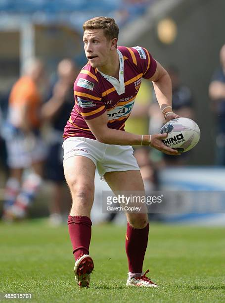 Kyle Wood of Huddersfield Giants during the Super League match between Huddersfield Giants and Wakefield Wildcats at John Smith's Stadium on April 21...