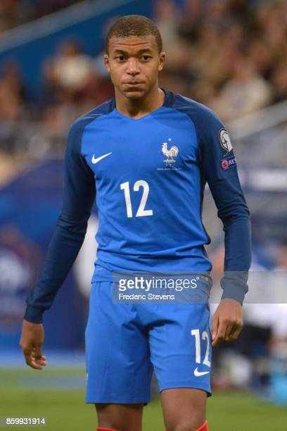 Kylian Mbappe forward of France Football team during the FIFA 2018 World Cup Qualifier between France and Belarus at Stade de France on October 10...