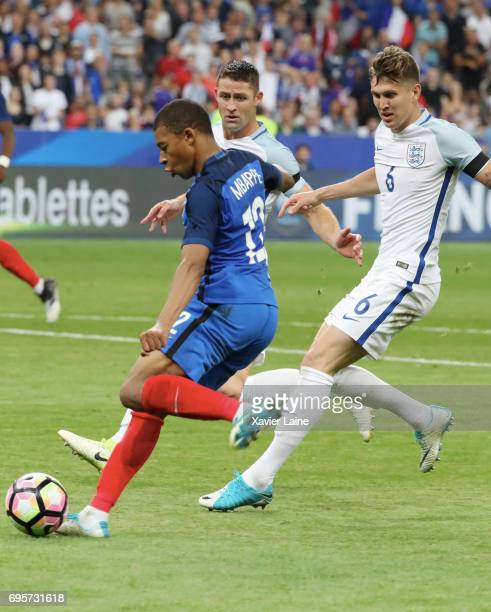 Kylian Mbappe in action during the International Friendly match between France and England at Stade de France on June 13 2017 in Paris France