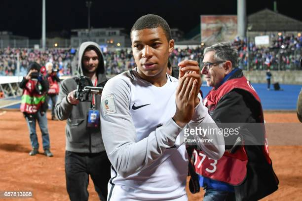 Kylian Mbappe of France after the FIFA World Cup 2018 qualifying match between Luxembourg and France on March 25 2017 in Luxembourg Luxembourg