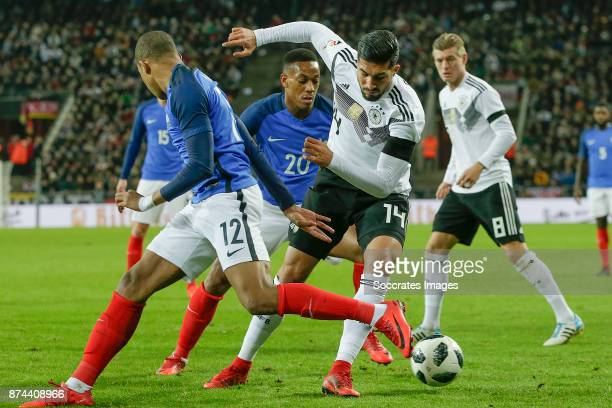 Kylian Mbappe of France Anthony Martial of France Emre Can of Germany during the International Friendly match between Germany v France at the...