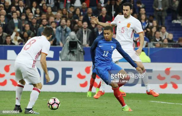 Kylian Mbappe of France in action during the Friendly game between France and Spain at Stade de France on march 28 2017 in Paris France