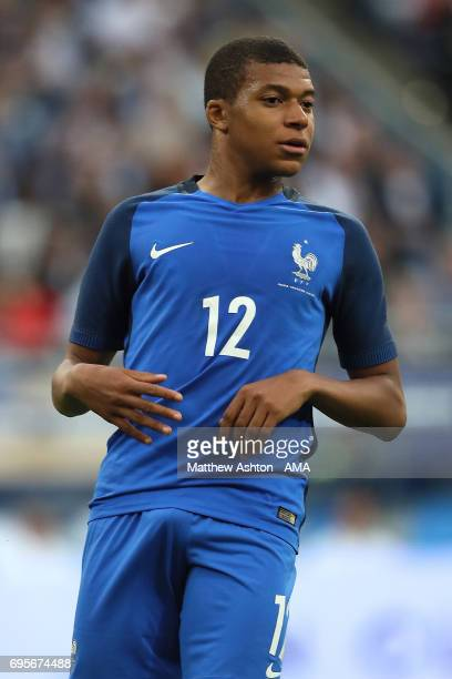 Kylian Mbappe of France looks on during the International Friendly match between France and England at Stade de France on June 13 2017 in Paris France