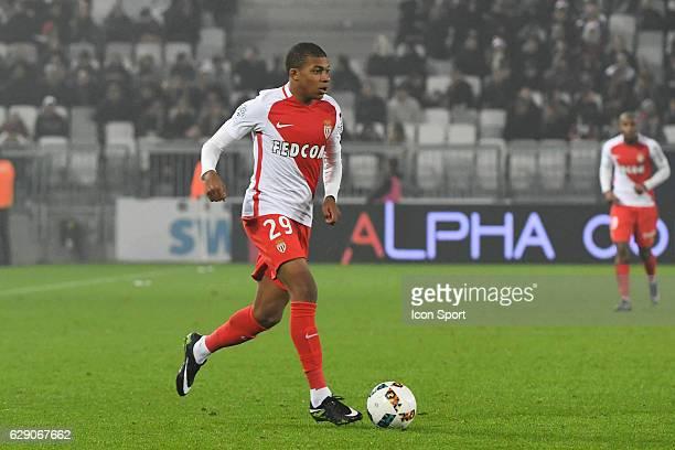 Kylian Mbappe of Monaco during the French Ligue 1 match between Bordeaux and Monaco at Nouveau Stade de Bordeaux on December 10 2016 in Bordeaux...