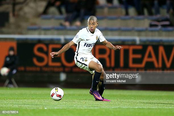 Kylian Mbappe of Monaco during the Ligue 1 match between Fc Lorient and As Monaco at Stade du Moustoir on November 18 2016 in Lorient France