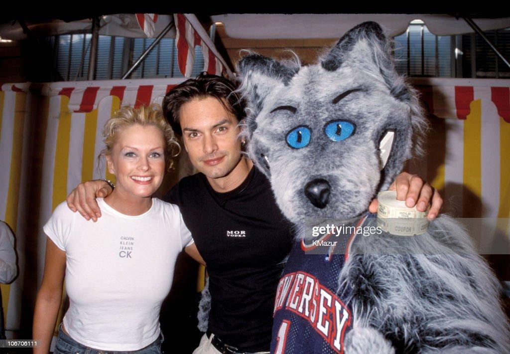 Kylie Bax and Marcus Schenkenberg during 1999 'Kids for Kids' Carnival Elizabeth Glasser Pediatric Aids Foundation Fundraiser at Industria Studio in...