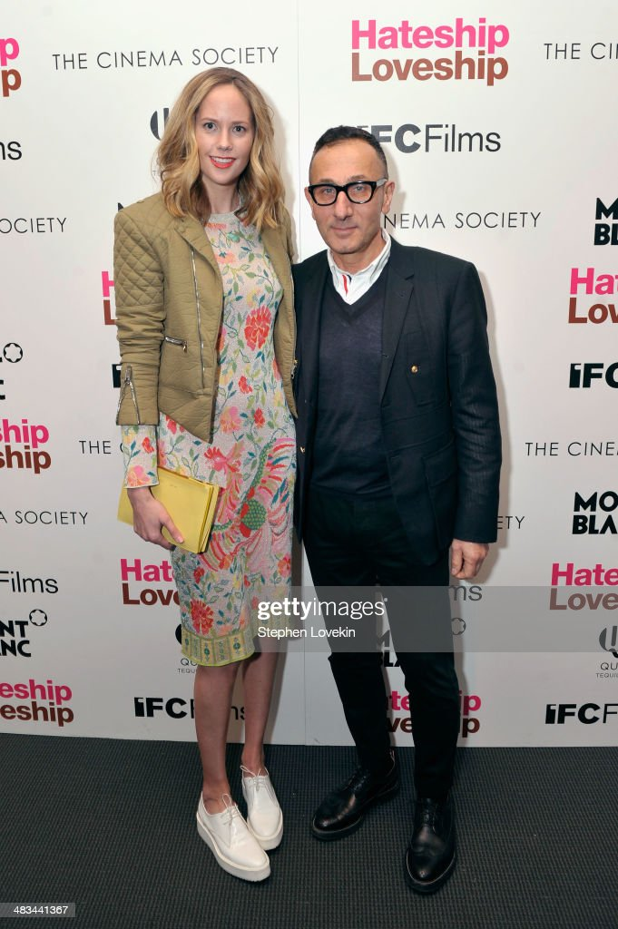 Kylie Case (L) and designer <a gi-track='captionPersonalityLinkClicked' href=/galleries/search?phrase=Gilles+Mendel&family=editorial&specificpeople=638035 ng-click='$event.stopPropagation()'>Gilles Mendel</a> attend IFC Films' 'Hateship Loveship' screening hosted by The Cinema Society and Montblanc at the Museum of Modern Art on April 8, 2014 in New York City.