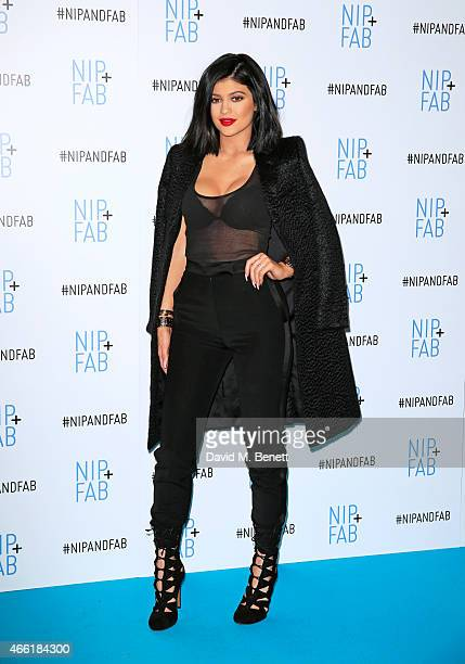 Kylie Jenner ambassador for NIPFAB poses at a photocall for NIPFAB at Vue Westfield on March 14 2015 in London England