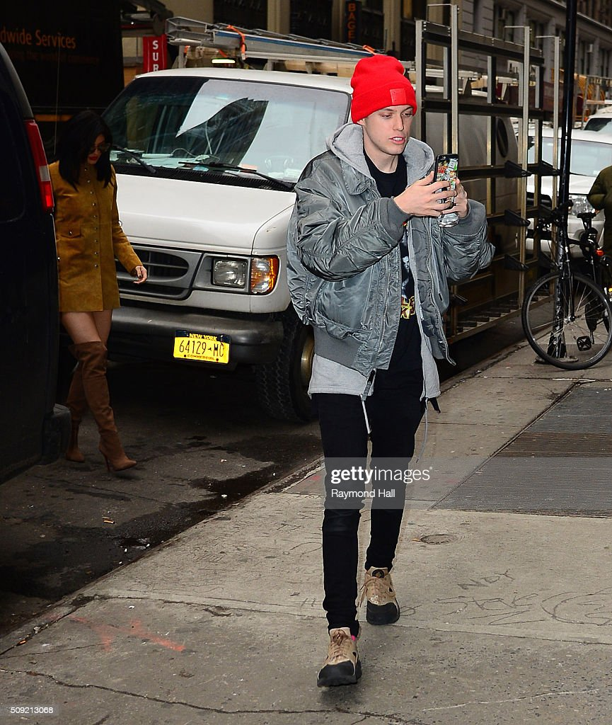 <a gi-track='captionPersonalityLinkClicked' href=/galleries/search?phrase=Kylie+Jenner&family=editorial&specificpeople=870409 ng-click='$event.stopPropagation()'>Kylie Jenner</a> and Harry Hudson are seen walking in Midtown February 9, 2016 in New York City.