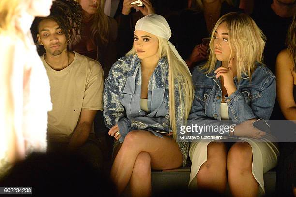 Kylie Jenner and Jordyn Woods attend the Jonathan Simkhai fashion show during New York Fashion Week The Shows at The Arc Skylight at Moynihan Station...
