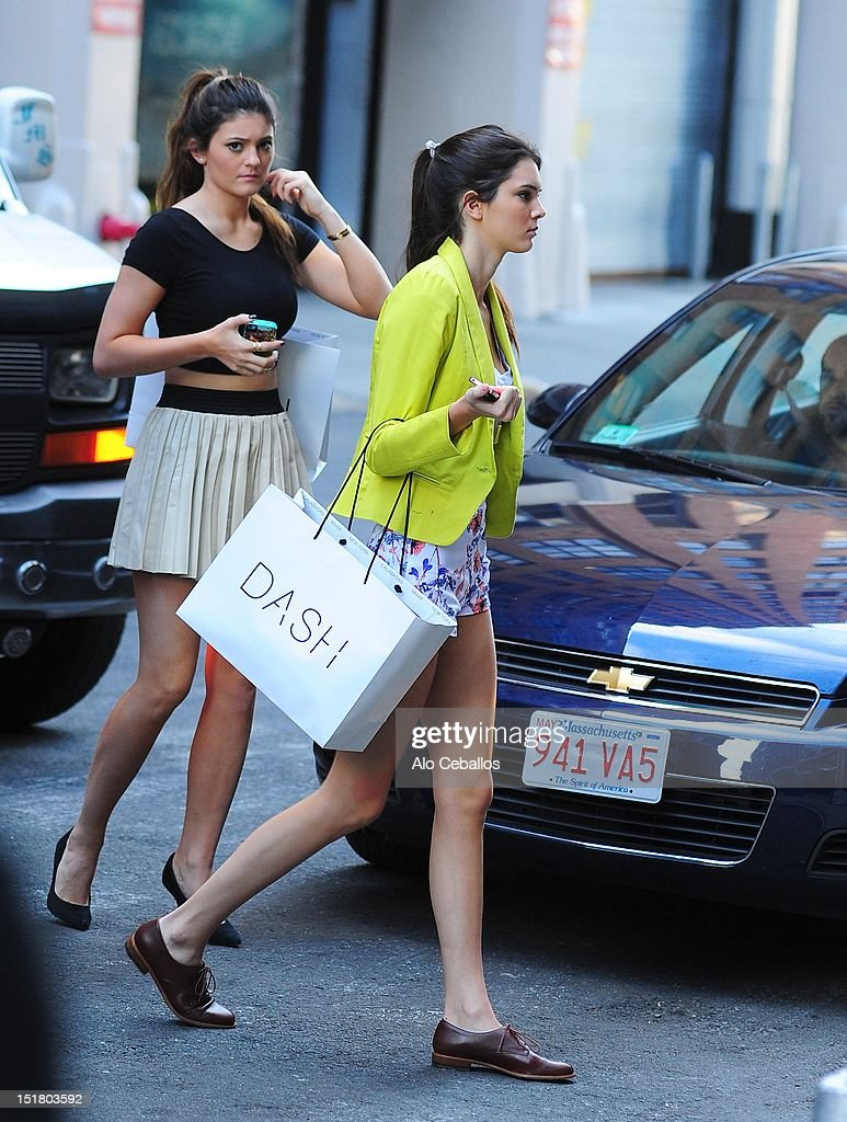 Kylie Jenner and Kendall Jenner are seen on September 11, 2012 in New York City.
