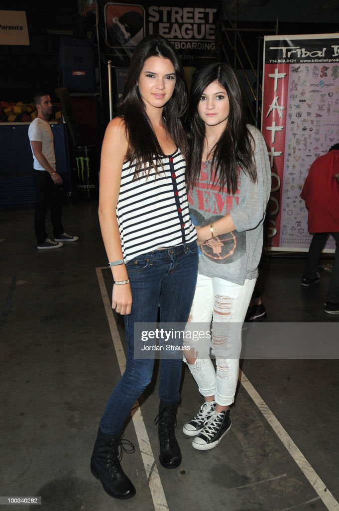 Kylie Jenner and Kendall Jenner attend Rob Dyrdek Foundation SK8 4 Life Benefit Presented by Panasonic & Carl's Jr at Fantasy Factory on May 22, 2010 in Los Angeles, California.