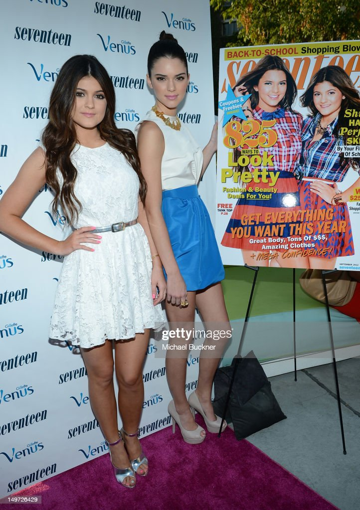 <a gi-track='captionPersonalityLinkClicked' href=/galleries/search?phrase=Kylie+Jenner&family=editorial&specificpeople=870409 ng-click='$event.stopPropagation()'>Kylie Jenner</a> (L) and <a gi-track='captionPersonalityLinkClicked' href=/galleries/search?phrase=Kendall+Jenner&family=editorial&specificpeople=2786662 ng-click='$event.stopPropagation()'>Kendall Jenner</a> attend Seventeen Magazine's September Issue Celebration with <a gi-track='captionPersonalityLinkClicked' href=/galleries/search?phrase=Kendall+Jenner&family=editorial&specificpeople=2786662 ng-click='$event.stopPropagation()'>Kendall Jenner</a> and <a gi-track='captionPersonalityLinkClicked' href=/galleries/search?phrase=Kylie+Jenner&family=editorial&specificpeople=870409 ng-click='$event.stopPropagation()'>Kylie Jenner</a> at the W Hotel Westwood on August 2, 2012 in Westwood, California.