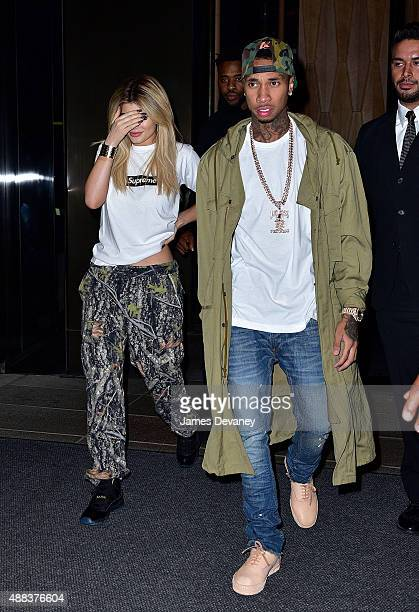 Kylie Jenner and Tyga seen on the streets of Manhattan on September 15 2015 in New York City