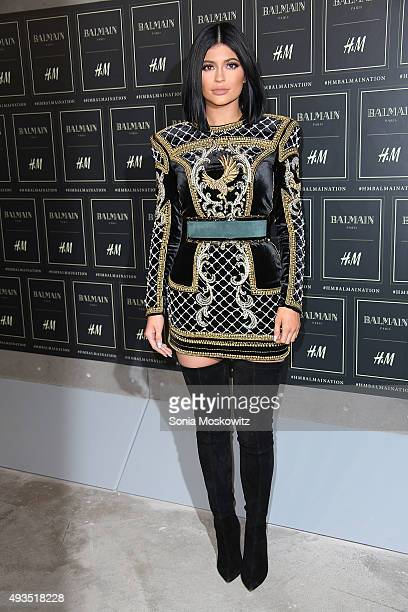 Kylie Jenner arrives at the BALMAIN X HM collection launch event at 23 Wall Street on October 20 2015 in New York City