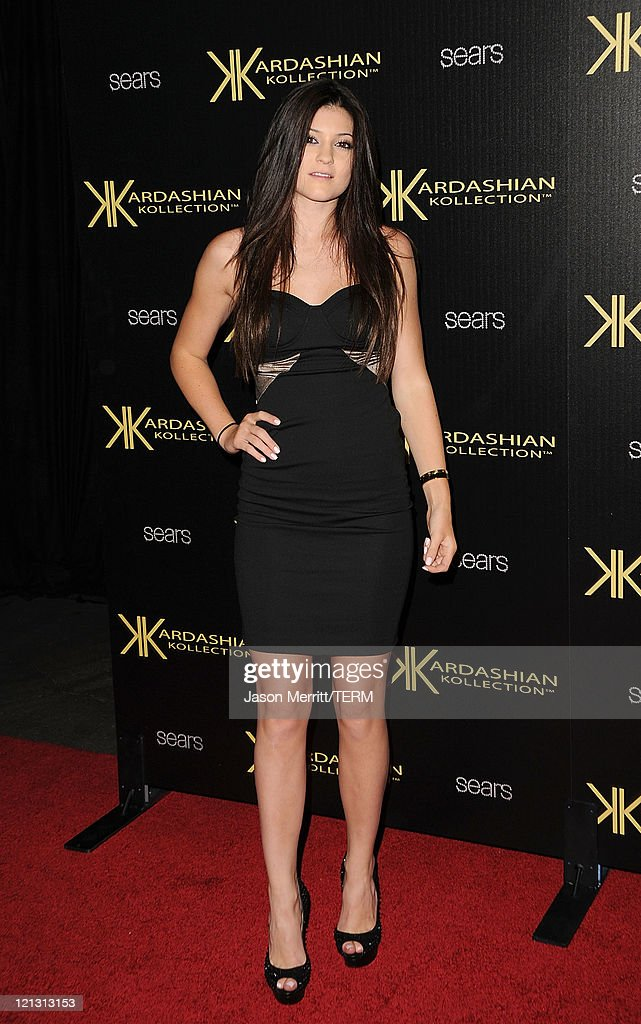 <a gi-track='captionPersonalityLinkClicked' href=/galleries/search?phrase=Kylie+Jenner&family=editorial&specificpeople=870409 ng-click='$event.stopPropagation()'>Kylie Jenner</a> arrives at the red carpet of the Kardashian Kollection Launch Party on August 17, 2011 in Hollywood, California.