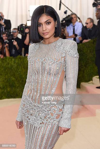 Kylie Jenner arrives for the 'Manus x Machina Fashion In An Age Of Technology' Costume Institute Gala at Metropolitan Museum of Art on May 2 2016 in...